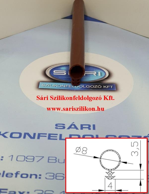 72/b. SzilStrip Ø8 mm-es bemarrásos szilikon ablaktömítés (barna)